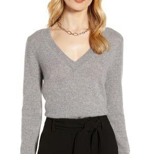 Halogen V neck sweater